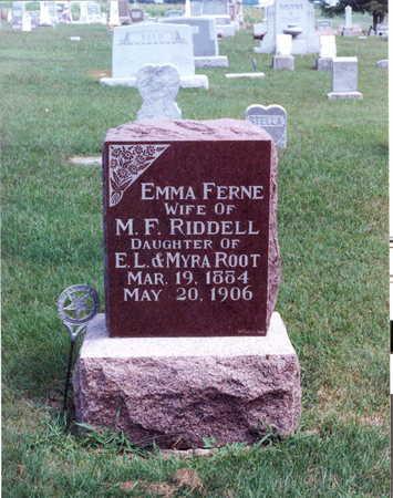 RIDDELL, EMMA FERNE - Keokuk County, Iowa | EMMA FERNE RIDDELL