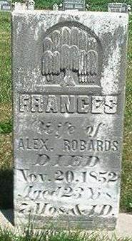ROBARDS, FRANCES - Keokuk County, Iowa | FRANCES ROBARDS