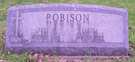 ROBISON, BERTHA - Keokuk County, Iowa | BERTHA ROBISON