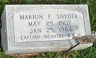 SNYDER, MARION F. - Keokuk County, Iowa   MARION F. SNYDER