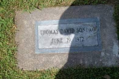 SONDAG, THOMAS DAVID - Keokuk County, Iowa | THOMAS DAVID SONDAG