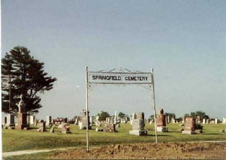 SPRINGFIELD, CEMETERY - Keokuk County, Iowa   CEMETERY SPRINGFIELD