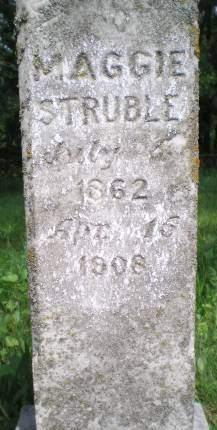 STRUBLE, MAGGIE - Keokuk County, Iowa   MAGGIE STRUBLE
