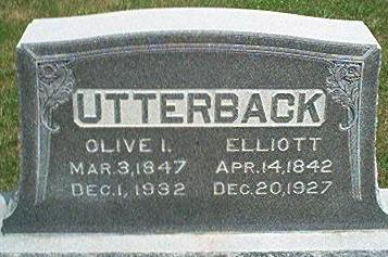 UTTERBACK, OLIVE I. - Keokuk County, Iowa | OLIVE I. UTTERBACK