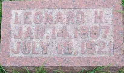 VANFLEET, LEONARD H. - Keokuk County, Iowa | LEONARD H. VANFLEET
