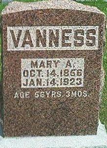 VANNESS, MARY A. - Keokuk County, Iowa | MARY A. VANNESS