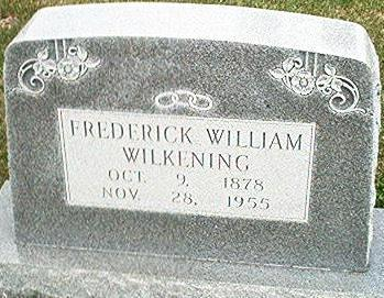 WILKENING, FREDERICK WILLIAM - Keokuk County, Iowa | FREDERICK WILLIAM WILKENING