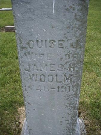 WOOLM, LOUISE - Keokuk County, Iowa | LOUISE WOOLM
