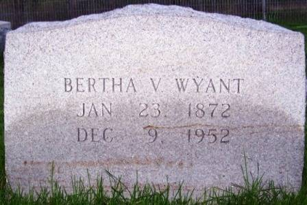 WYANT, BERTHA V. - Keokuk County, Iowa | BERTHA V. WYANT