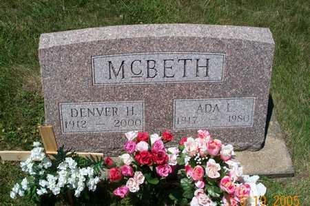MCBETH, ADA L - Keokuk County, Iowa | ADA L MCBETH