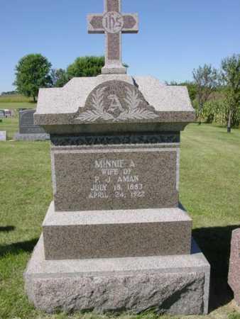 AMAN, MINNIE A. - Kossuth County, Iowa   MINNIE A. AMAN