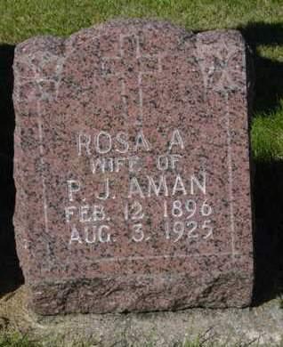 AMAN, ROSA A. - Kossuth County, Iowa   ROSA A. AMAN