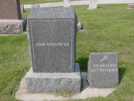 ARNDORER, JOHN - Kossuth County, Iowa | JOHN ARNDORER