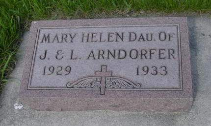 ARNDORFER, MARY HELEN - Kossuth County, Iowa | MARY HELEN ARNDORFER