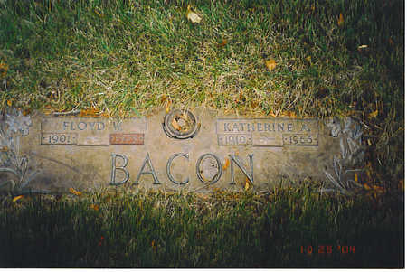 THOMPSON BACON, KATHERINE A. - Kossuth County, Iowa | KATHERINE A. THOMPSON BACON