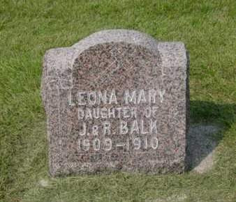 BALK, LEONA MARY - Kossuth County, Iowa | LEONA MARY BALK