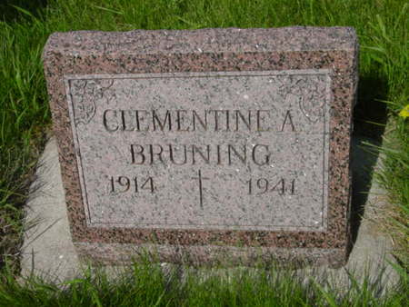 BRUNING, CLEMENTINE A. - Kossuth County, Iowa | CLEMENTINE A. BRUNING