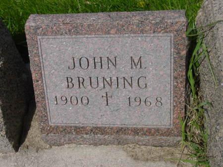 BRUNING, JOHN M. - Kossuth County, Iowa   JOHN M. BRUNING