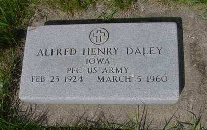 DALEY, ALFRED HENRY - Kossuth County, Iowa | ALFRED HENRY DALEY