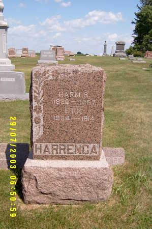 DAMS HARRENGA, ETJE (ETTINA) - Kossuth County, Iowa | ETJE (ETTINA) DAMS HARRENGA