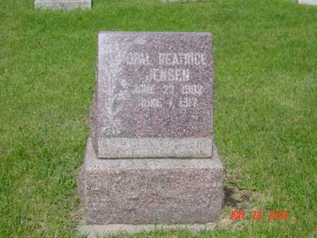 JENSEN, OPAL BEATRICE - Kossuth County, Iowa   OPAL BEATRICE JENSEN