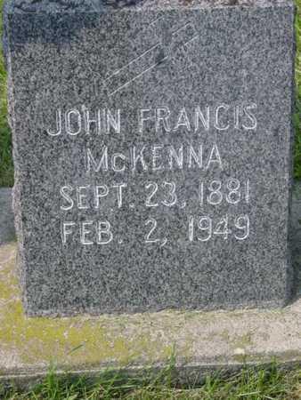 MCKENNA, JOHN FRANCIS - Kossuth County, Iowa | JOHN FRANCIS MCKENNA