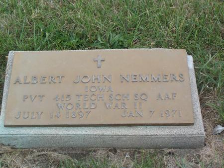 NEMMERS, ALBERT JOHN - Kossuth County, Iowa   ALBERT JOHN NEMMERS