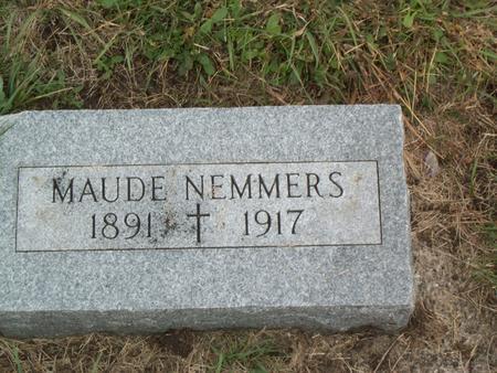 NEMMERS, MAUDE - Kossuth County, Iowa | MAUDE NEMMERS
