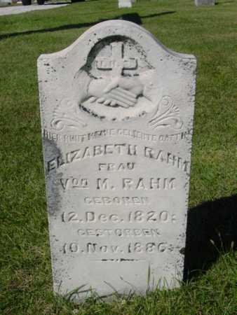 RAHM, ELIZABETH - Kossuth County, Iowa | ELIZABETH RAHM