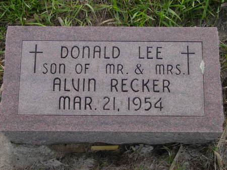 RECKER, DONALD LEE - Kossuth County, Iowa | DONALD LEE RECKER
