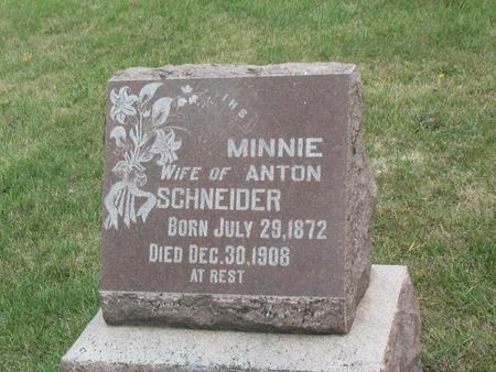 SCHNEIDER, MINNIE - Kossuth County, Iowa | MINNIE SCHNEIDER