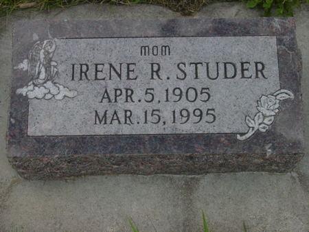 STUDER, IRENE R. - Kossuth County, Iowa   IRENE R. STUDER
