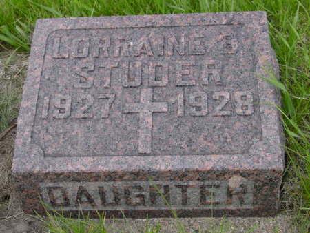 STUDER, LORRAINE - Kossuth County, Iowa | LORRAINE STUDER