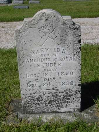 STUDER, MARY IDA - Kossuth County, Iowa | MARY IDA STUDER