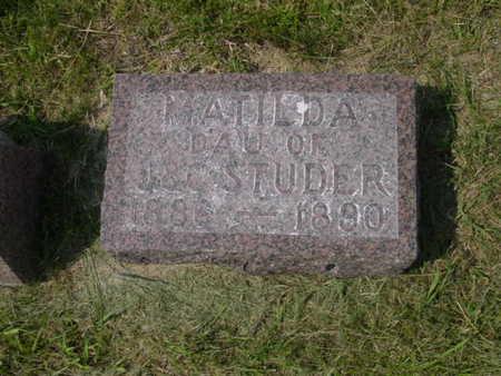 STUDER, MATILDA - Kossuth County, Iowa | MATILDA STUDER