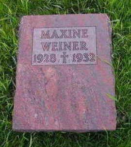 WEINER, MAXINE - Kossuth County, Iowa | MAXINE WEINER