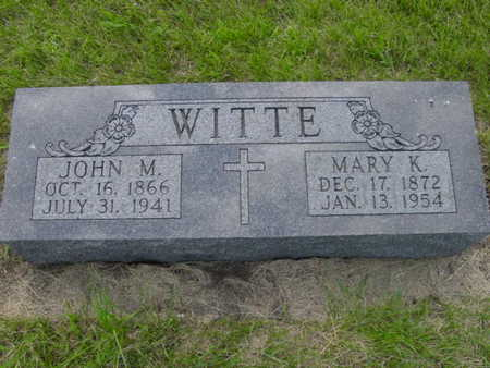 WITTE, MARY K. - Kossuth County, Iowa | MARY K. WITTE