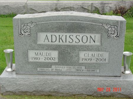ADKISSON, MAUDE - Lee County, Iowa | MAUDE ADKISSON