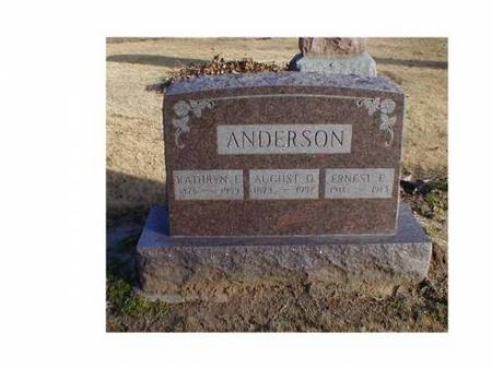 ANDERSON, AUGUST D., KATHRYN E. - Lee County, Iowa | AUGUST D., KATHRYN E. ANDERSON
