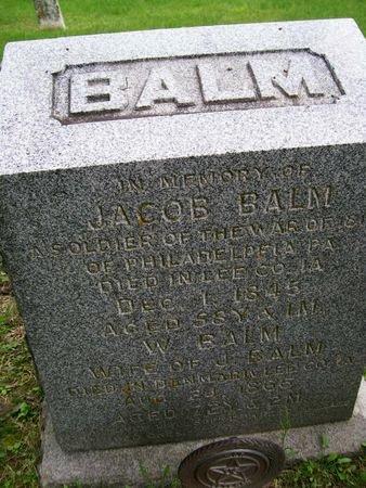 BALM, JACOB - Lee County, Iowa | JACOB BALM