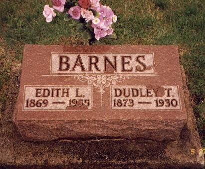 BARNES, DUDLEY T. & EDITH L. (COURTRIGHT) - Lee County, Iowa | DUDLEY T. & EDITH L. (COURTRIGHT) BARNES