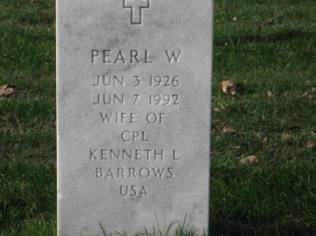 BARROWS, PEARL  W. - Lee County, Iowa   PEARL  W. BARROWS