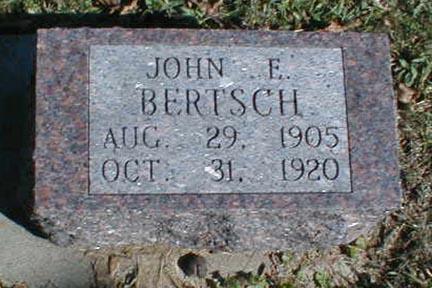 BERTSCH, JOHN F. - Lee County, Iowa | JOHN F. BERTSCH
