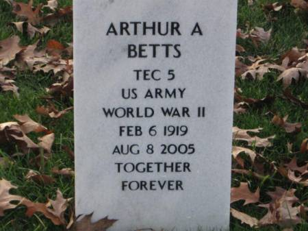 BETTS, ARTHUR  A. - Lee County, Iowa   ARTHUR  A. BETTS