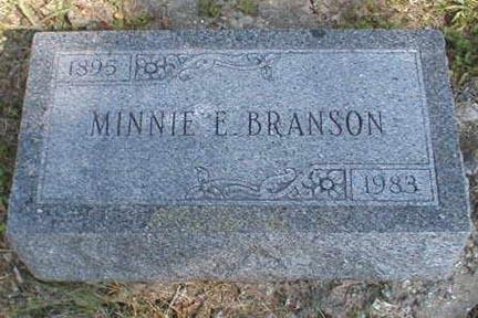BRANSON, MINNIE E. - Lee County, Iowa | MINNIE E. BRANSON