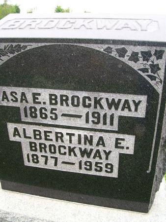 BROCKWAY, ALBERTINA ELIZABETH - Lee County, Iowa   ALBERTINA ELIZABETH BROCKWAY