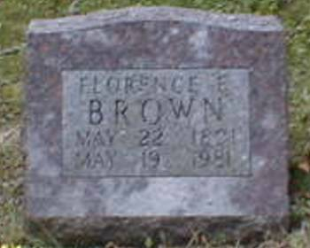 BROWN, FLORENCE E. - Lee County, Iowa | FLORENCE E. BROWN