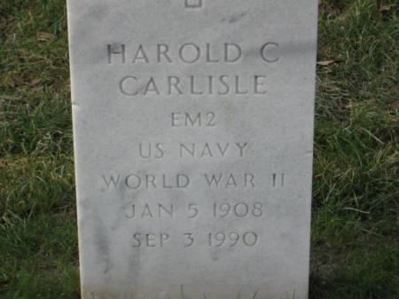 CARLISLE, HAROLD  C. - Lee County, Iowa   HAROLD  C. CARLISLE
