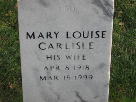 CARLISLE, MARY  LOUISE - Lee County, Iowa | MARY  LOUISE CARLISLE