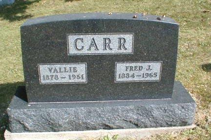 CARR, VALLIE - Lee County, Iowa | VALLIE CARR